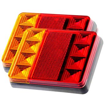 2 sztuk wodoodporny samochód 8 światło tylne led tylne lampy para przyczepa do łodzi 12 V 24 V tylne części do ciężarówka z przyczepą samochód Lighti tanie i dobre opinie EAFC Lampa tylna Zgromadzenia Car Rear Tail Light 2 2inch 235kg None Audi Included Universal Other