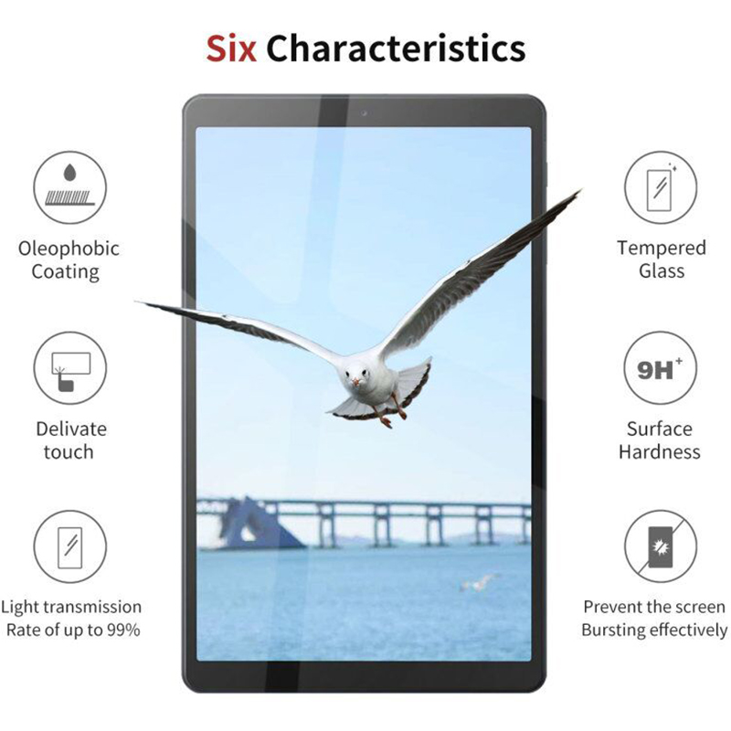 2PCS Tempered Glass Protective Film For 2019 Samsung Galaxy Tab A 10.1 SM-510 SM-T515 Screen Protector Glass Protection