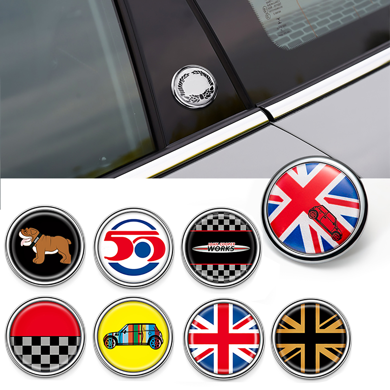 Fashion Union Jack Sticker Decals Window Decor For Mini Cooper One Countryman F55 F56 R55 R56 R60 F60 Car Styling Accessories