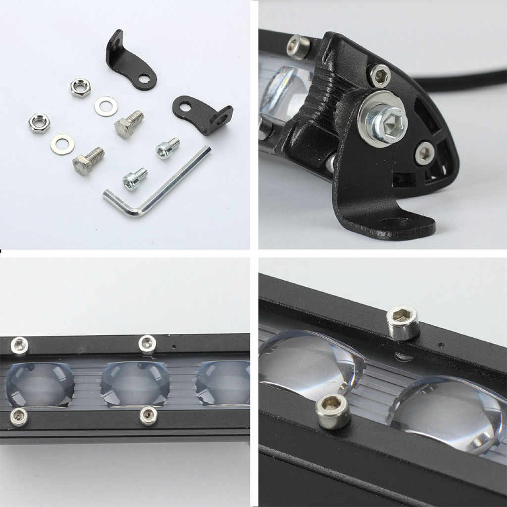 8 インチ Led ワークライトを実行している電球ランプ車バー防水オフロードスポットライト投光照明車アクセサリー # YL1