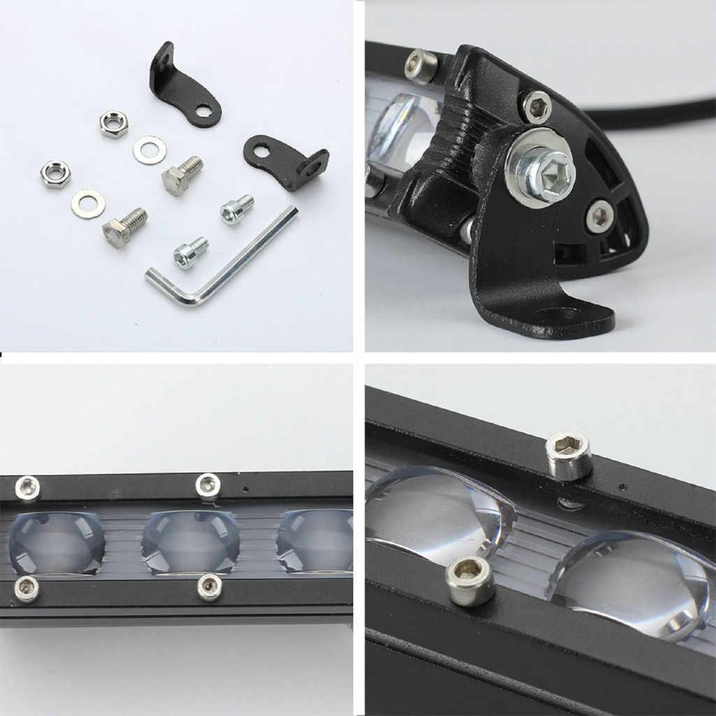 実行している電球ランプ車 8 インチledワークライトバー防水オフロードスポットライト投光照明車アクセサリー # ger