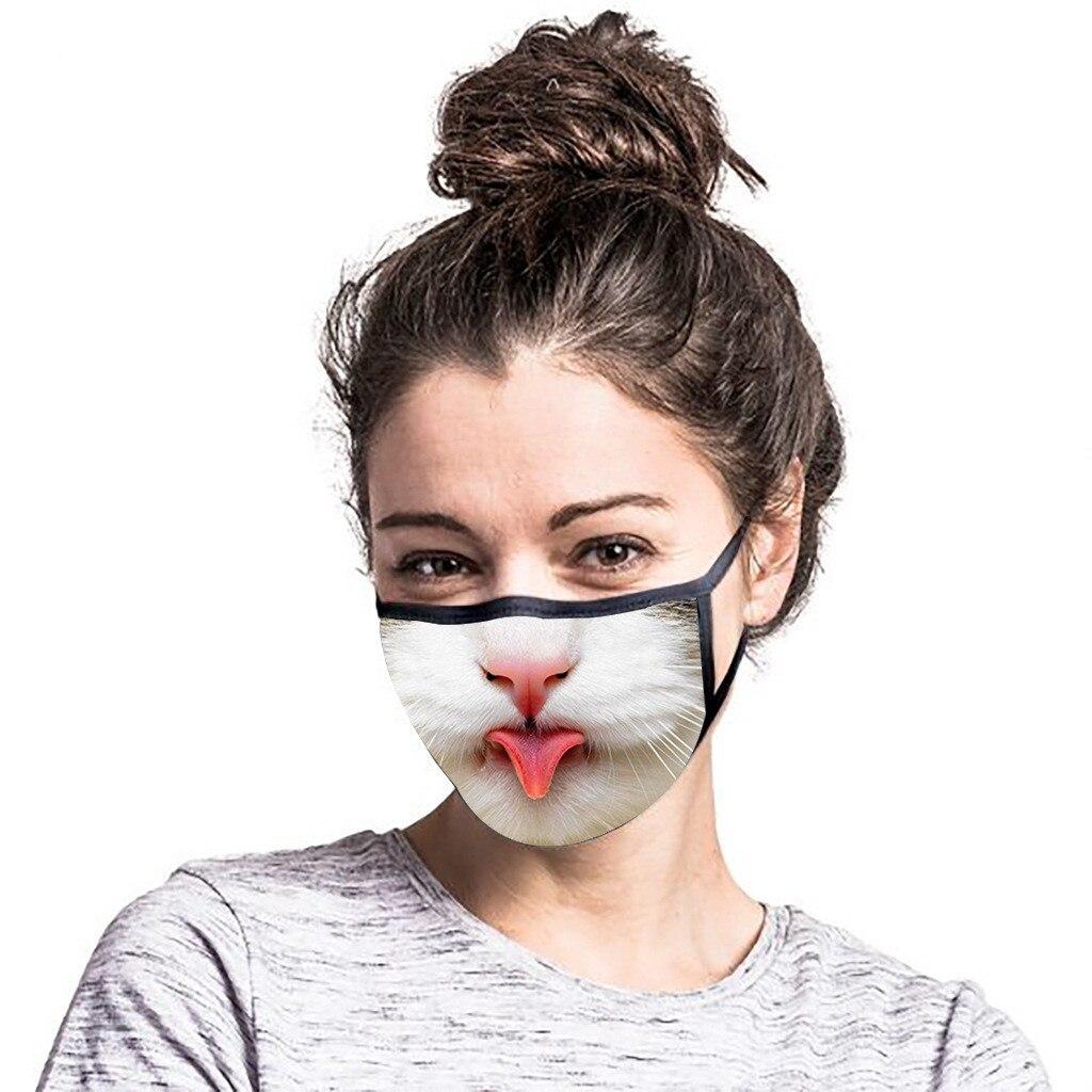 3D маска с животным принтом, забавная дышащая маска для лица, маска для езды на велосипеде, защита от пыли, песка, солнца, Ветрозащитная маска ...
