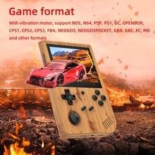 2021ใหม่ RG351V 128G หน้าจอ3.5นิ้วเกมคอนโซล Retro Mini แบบพกพาเปิดระบบเกมมือถือคอนโซล