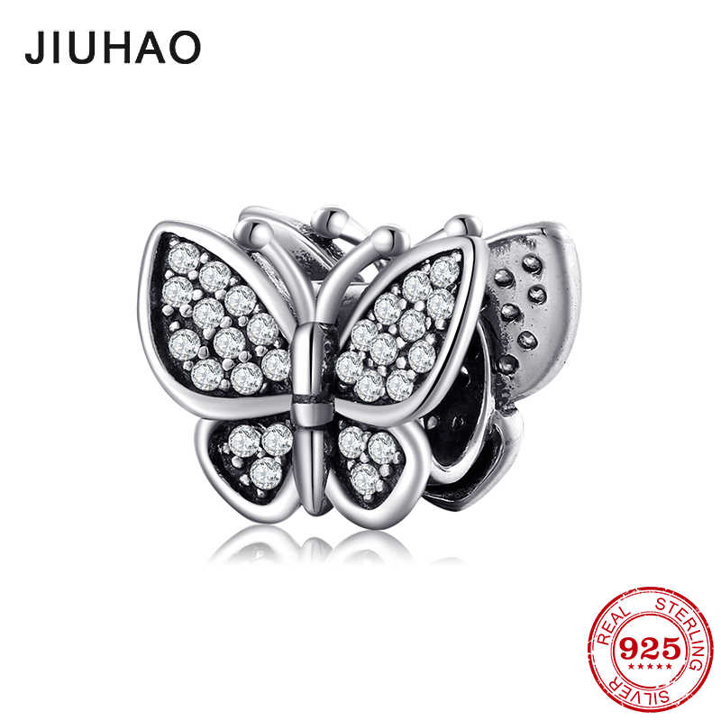 New Authentic 925 Sterling Silver Butterfly fairy Beads Jewelry Making Fit Original Pandora Charms Bracelet Fashion Jewelry