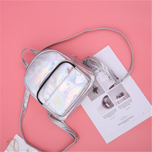 Women Holographic Laser Backpack Female Travel Backpacks Silver Pink Hologram School Bags For Teenager Girls Fashion Bag celldeal mini hologram ladies women backpacks laser leather holographic mini multicolor for student school bags pink silver