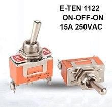 2 шт e ten1122 серебряный контакт spdt 12 мм 15a 250v ac ВКЛ