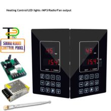 4.5KW Infrared Sauna Heater Panel Controller for Temperature, Light, Fan,Mp3, FM