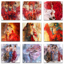 diamond paintings 5d character sexy set kit ballet Dancing girl full square diamond paint art Diamond painting Cross stitch(China)