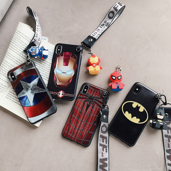 3D muñeca de juguete apoyo de hierro hombre Spiderman funda para iphone 6 7 6S 8 Plus X XS X XR MAX 11 11Pro Pro Capitán América funda de teléfono