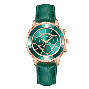Image 1 - Luxury Brand Three Eyes Dial Women Wrist Watches Casual Ladies Quartz Dress Watches Montre Femme Dropshipping