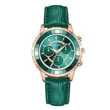 Reloj de pulsera con tres ojos para mujer, de cuarzo, informal