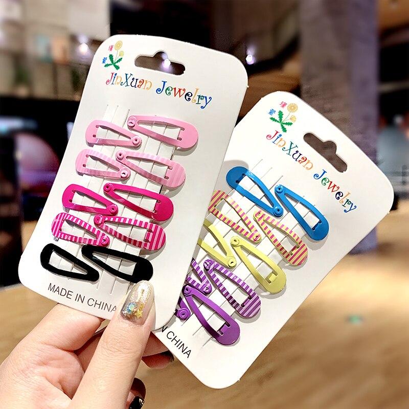 10pcs/pack Girls Vivid Colorful Print Hairpin Kid Sweet Hair Clip Cute Barrette Headband BB Clip Lovely Fashion Hair Accessories