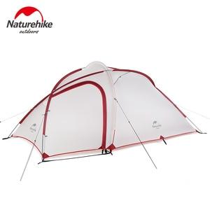 Image 4 - Палатка Naturehike Hiby Series туристическая, силиконовая нейлоновая ткань 20D, Ультралегкая для 3 человек, с свободным ковриком