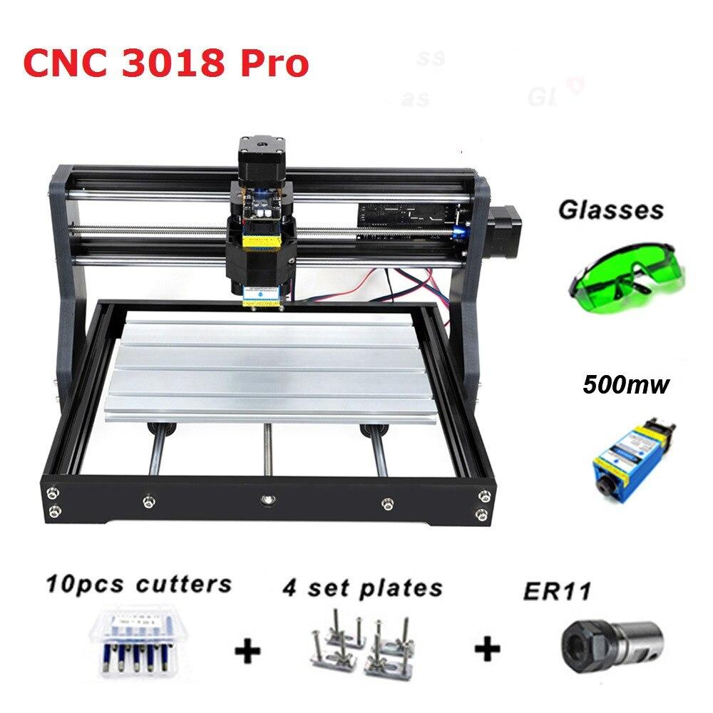 Cnc 3018 pro gravador do laser de madeira máquina roteador cnc grbl er11 hobby diy máquina de gravura para madeira pcb pvc mini cnc3018 gravador