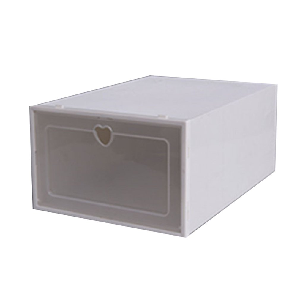 Flip Type Drawer Shoe Box Thickened Plastic Shoe Box Dormitory Home Superimpose Shoes Storage Dust-proof Box