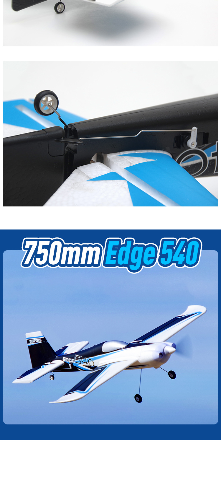 FMS RC Airplane Plane 750mm Edge 540 3D Acrobatic Sport