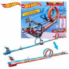 цена на Hot wheels Carros Track Model Cars Train Kids Plastic Metal Toy-cars-hot-wheels Hot Toys For Children Juguetes GFH85