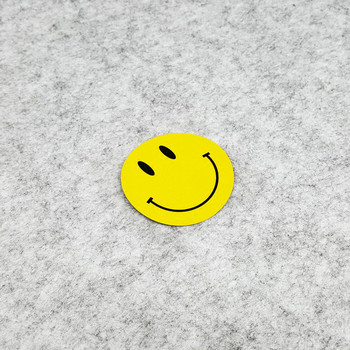 GalonDeco Cartoon Smile Face Cute Yellow Emoticons Reflective Car Stickers Motorcycle Sticker Decals 7x7cm
