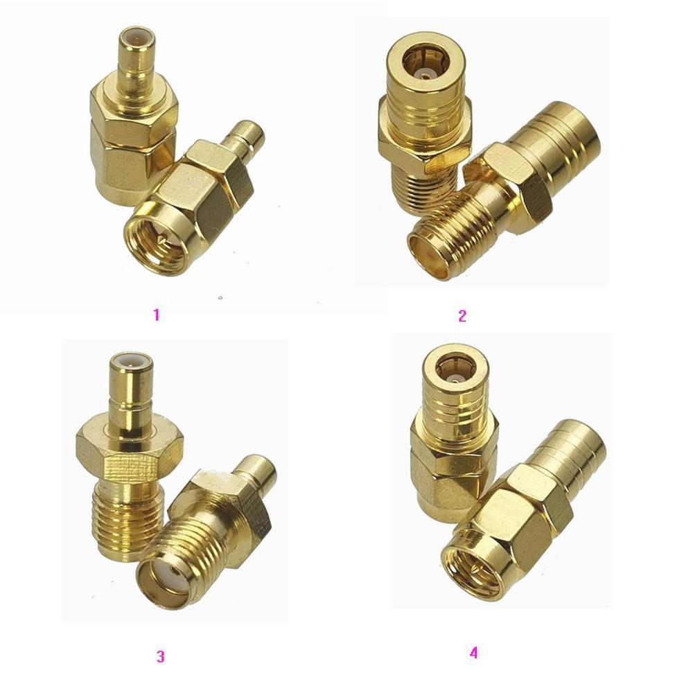 1 pces sma para smb macho plug & fêmea jack em linha reta rf coaxial adaptador conector conversor de teste