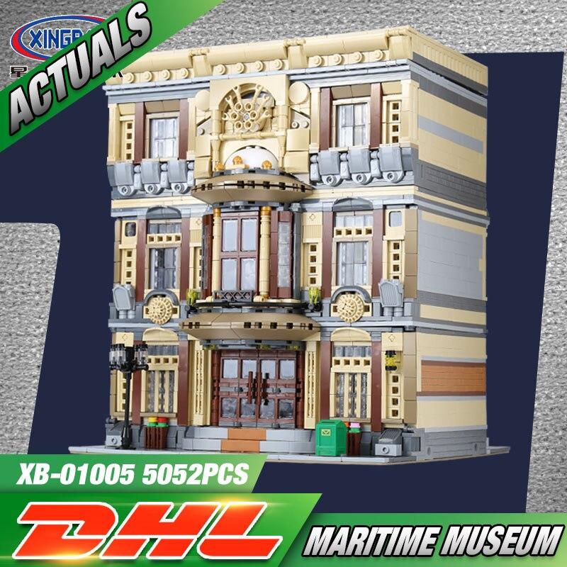 XingBao 01005 5052Pcs Creative MOC City Series The Maritime Museum Set Building Blocks Bricks Kids Christmas