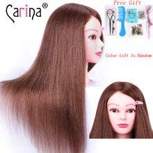 60 см настоящие человеческие волосы Парикмахерская голова для причесок манекен голова Парикмахерская кукла с длинными волосами манекены для продажи