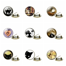 Black Cat Brooch Cute Cats Badge Brooches Bag Clothes Lapel Pin Cartoon Animal Jewelry Kids Gift
