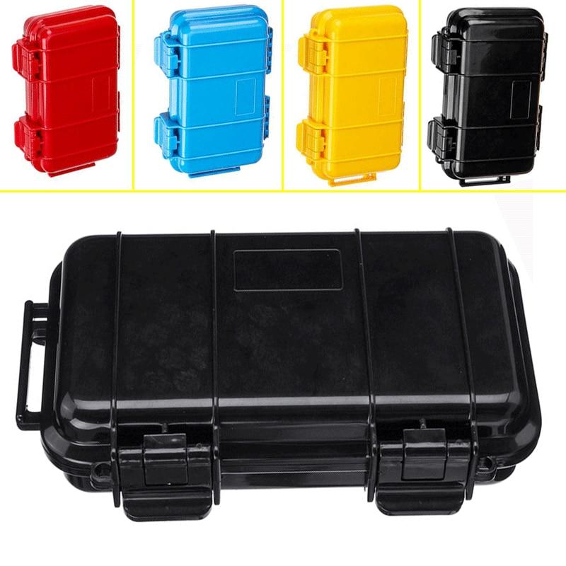 Открытый противоударный Водонепроницаемый ящик с набором для выживания герметичный чехол держатель для хранения спички инструменты 4 цвет...