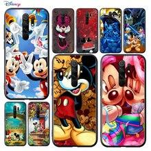 Coque de téléphone noir et souple, dessin animé Disney Mickey Mouse, mignon, pour Xiaomi Redmi K40 K30T K30S K30i K20 10X 9T 9i Ultra Pro 5G