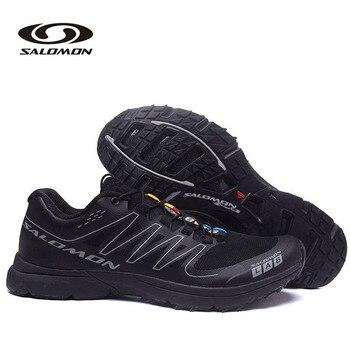 Classics Style Salomon S LAB SENSE Men's Shoes Lace Up Hiking Sport Shoes Outdoor Jogging Trekking Sneakers кроссовки salomon salomon s lab sense 8