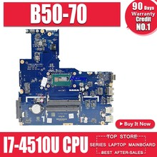 ZIWB2/ZIWB3/ZIWE1 LA-B092P материнская плата для ноутбука For Lenovo B50-70 тест оригинальная материнская плата I7-4510U