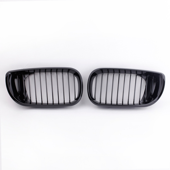 Hot Pair Front Gloss Black Kidney Grille Grill For BMW E46 4D 3 Series 4 Door 2002 2003 2004 2005
