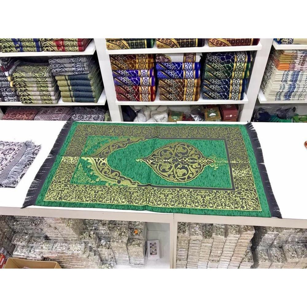 Islamic Prayer Rug Muslim Prayer Mat JaNamaz Salat Sajadah Ramadan Gift