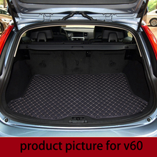 lsrtw2017 for volvo v40 V60  leather car trunk mat 2010 2011 2012 2013 2014 2015 2016 2017 2018 cargo liner cover accessories