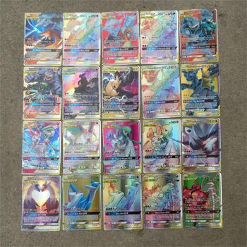 200 Pcs GX TEAM Shining TAKARA TOMY Cards Game Battle Carte 100pcs Trading Cards Game Children Toy PokemonOriginal Flash Cards 2