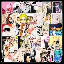 Стикеры с граффити Леди Гага, наклейки для самостоятельного изготовления чехлов, ноутбуков, скейтбордов, гитар, холодильников, телефонов, ч...
