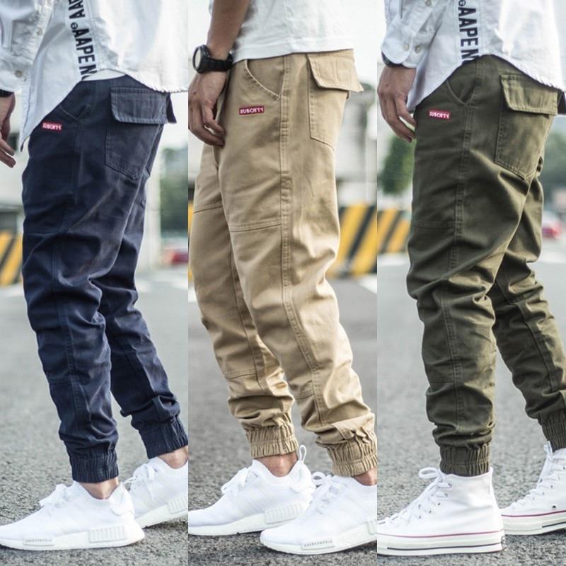 Fashion Streetwear Men Joggers Pants Spliced Designer Slack Bottom Casual Cargo Pants Men Harem Trousers Hip Hop Pants Hombre