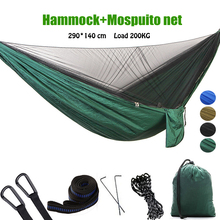 Portable Hammock  singles/Double Person Camping Survival Garden Swing Hunting Hanging Sleeping Chair Travel Furniture Parachute все цены