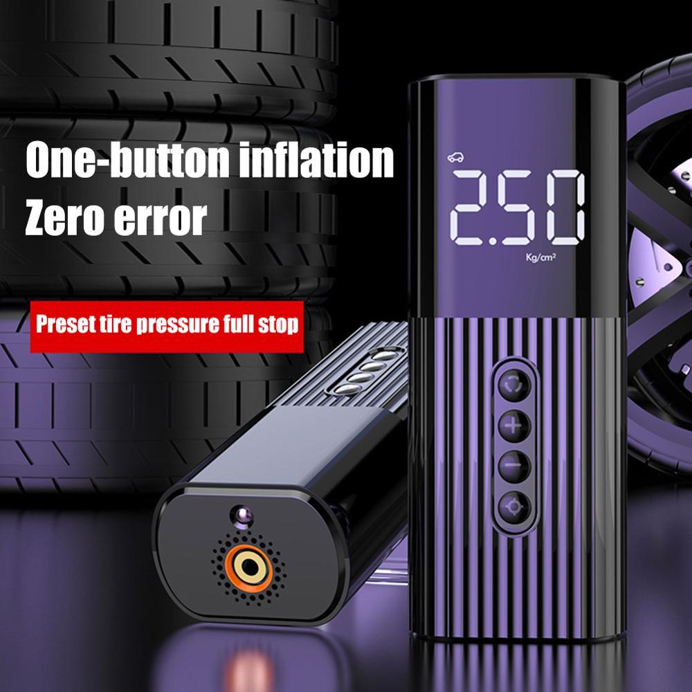 Portable Mini Inflatable Pump High Pressure Tire Air Inflator Pump Handheld Electric Car Air Compressor 150PSI High Pressure