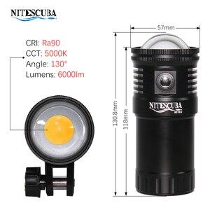 Image 3 - Nitescuba NSV60 diving video light 6000lumen High CRI=90