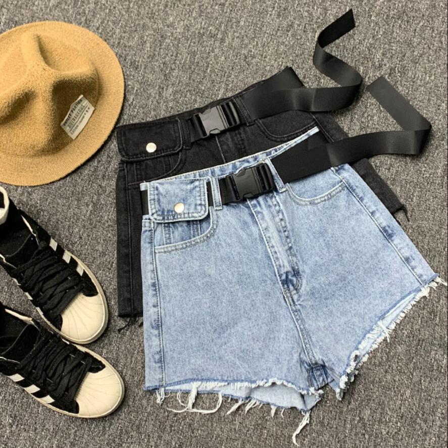 Denim Shorts Women 2020 Spring Summer Loose High Waist Wide Leg High Waist Wild Jeans Shorts