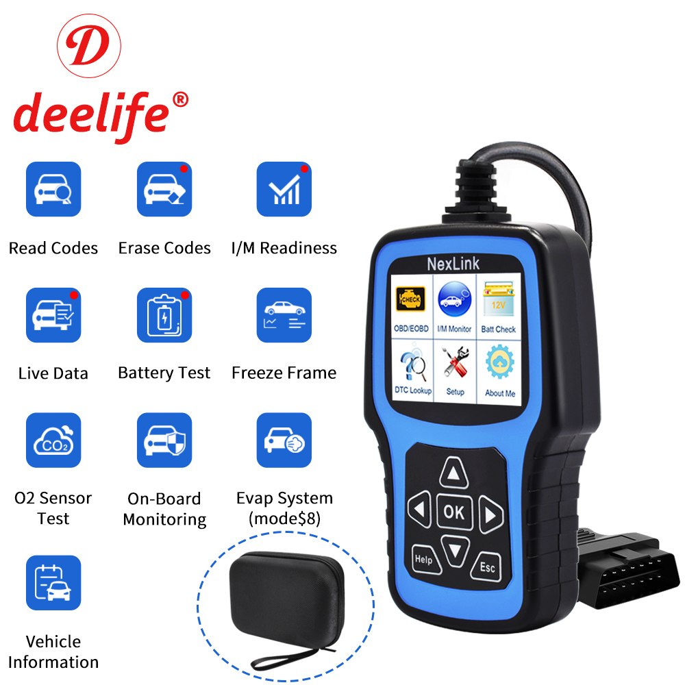 Outil de Diagnostic automatique de voiture d'obd d'autodiagnostic du Scanner ODB2 des véhicules à moteur professionnel de Deelife OBD2 pour le lecteur de Code d'odb II OBD 2
