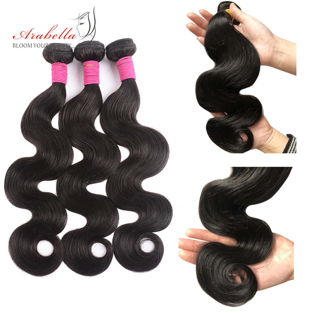 Body Wave Hair Bundles   Bundles Natural Color 1/2/3/4 Pieces Available  Hair  Arabella Hair 1