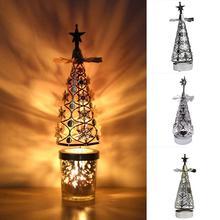 Candle-Holder Lantern Rotating Cake-Baking-Decoration Stainless-Light Tea Steel Christmas