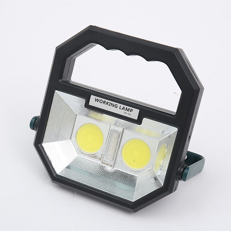 Hand LED Working Light Warning Lighting Outdoor Tent Camping Lamp Rechargeable Searchlight Emergency Light