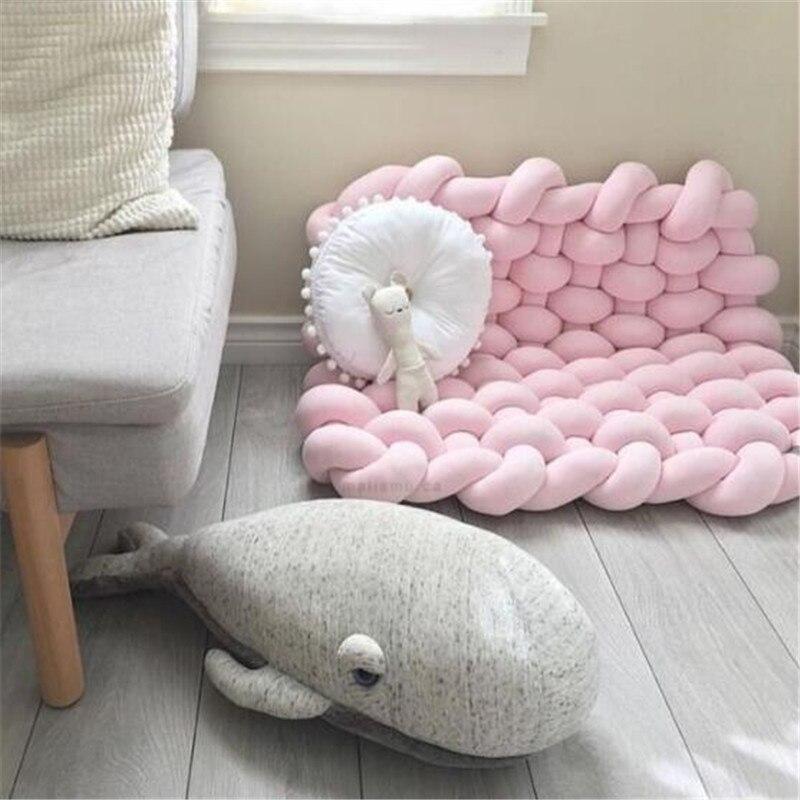Bébé tapis de jeu jouets pour enfants INS tresse bande tissage noué enfants tapis Puzzle ramper Gym Pad enfants tapis chambre décor 85x70cm - 4