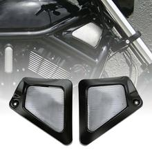 Motorcycle Black/Chrome Airbox Frame Neck Side Covers For Harley V-Rod VRSCAW Screamin VRSCF туфли airbox airbox mp002xm20pqk