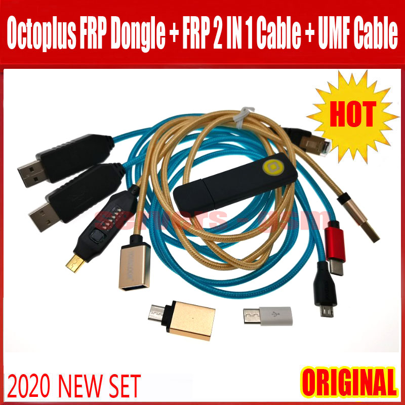 2020 Newest Sales ORIGINAL Octopus FRP Tool/Octoplus FRP Dongle+ Octoplus FRP USB UART 2 IN 1 Cable+ALL BOOT Cable For SamsungH