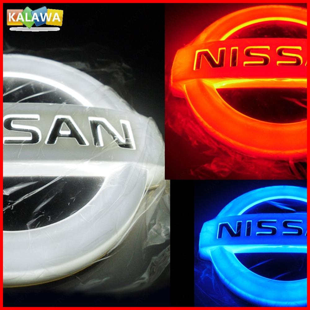 4D NIS + SAN Front Rear Automobile LED Emblem Light Car Badge Logo Lamp Daylighting DRL Secure Bulb LIVINA Cedric Geniss etc 1