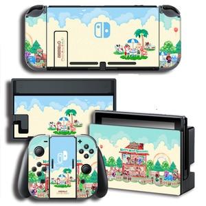 Image 3 - עור כיסוי מדבקה לעטוף עבור Animal Crossing מדבקות w/קונסולה + שמחה קון + טלוויזיה Dock עורות עבור nintendo מתג עור צרור