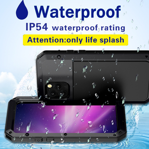 Image 4 - Pesante di protezione serbatoio in lega di alluminio del metallo di protezione delle coperture del telefono mobile per il caso di iphone 5 se 6 7 8 più di x s xr max 11 pro max
